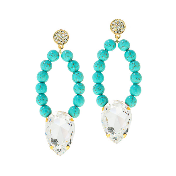 OCEAN OPULENCE STATEMENT EARRINGS