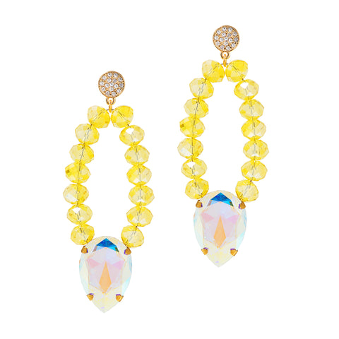 FLORIDIAN SUNSHINE STATEMENT EARRINGS