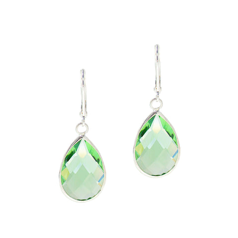 SPRING RAIN STATEMENT EARRINGS (MINT)