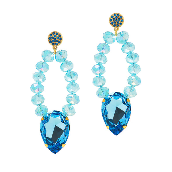 GRECIAN GLAMOUR STATEMENT EARRINGS