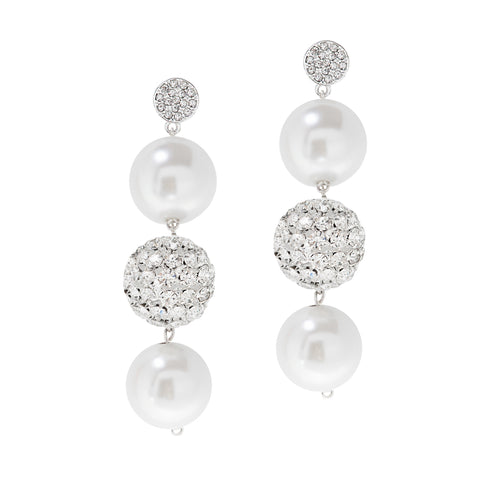 PEARL ALLURE STATEMENT EARRINGS