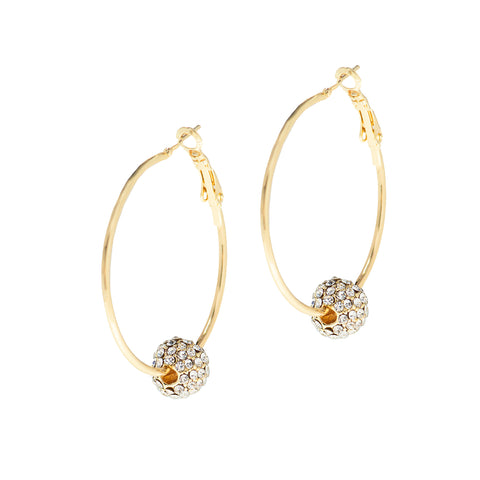 OCEAN SPARKLE STATEMENT EARRINGS (GOLD)