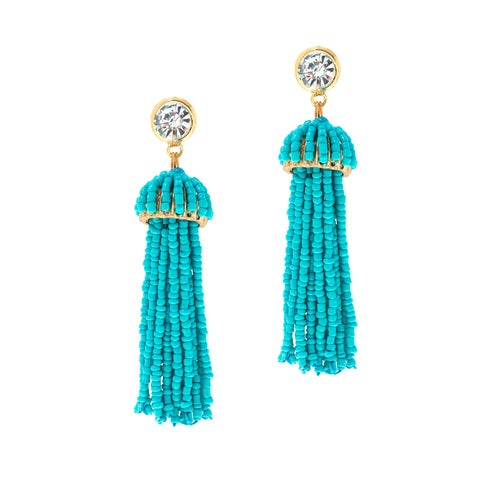 SUMMER SPLASH STATEMENT EARRINGS (TURQUOISE)