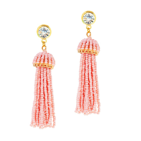 SUMMER SPLASH STATEMENT EARRINGS (CORAL)