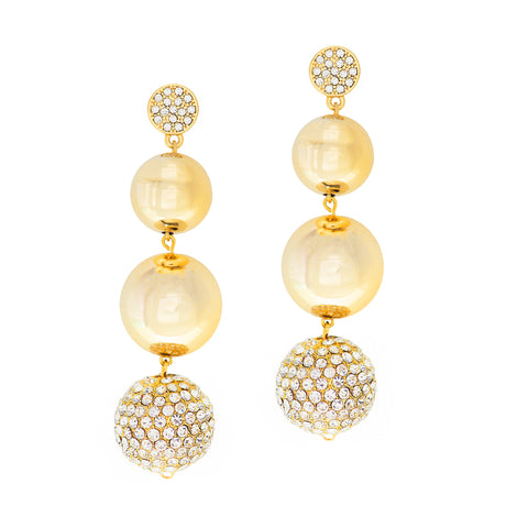 GOLD ATTRACTION STATEMENT EARRINGS