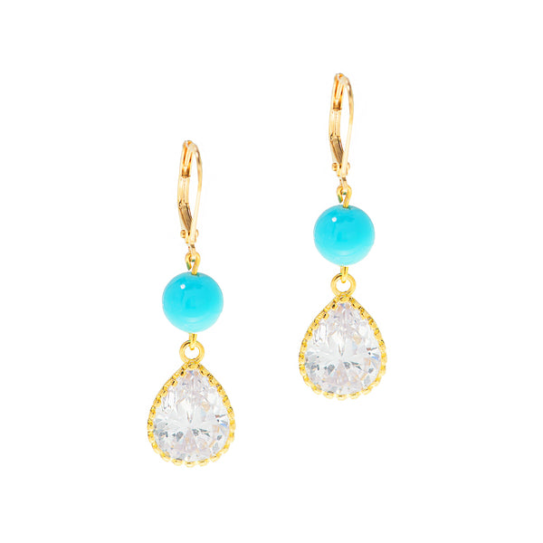 TURQUOISE DREAM STATEMENT EARRINGS