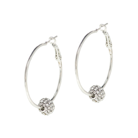 OCEAN SPARKLE STATEMENT EARRINGS (SILVER)
