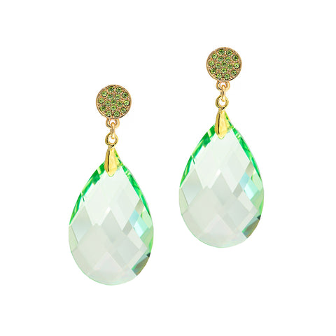 LUXE LIME STATEMENT EARRINGS