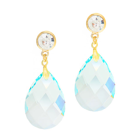 BEACH BLUE STATEMENT EARRINGS