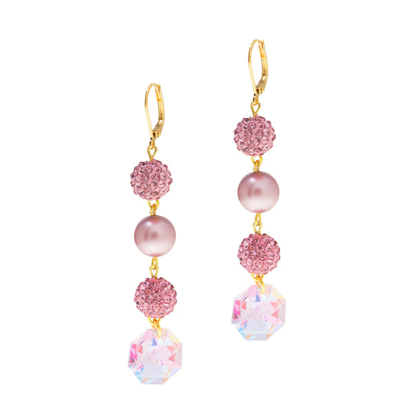 PINK PASSION STATEMENT EARRINGS