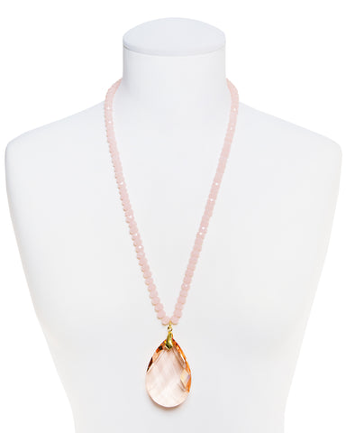 PASTEL DREAM STATEMENT NECKLACE (PEACH)