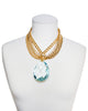 RIVIERA GLAMOUR STATEMENT NECKLACE (BLUE)