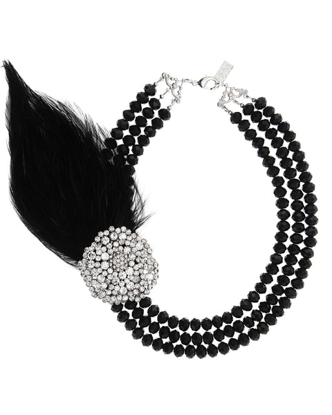 DASHING THROUGH THE SNOW STATEMENT NECKLACE