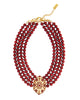 EMPRESS OF THE SEASON STATEMENT NECKLACE (MERLOT)