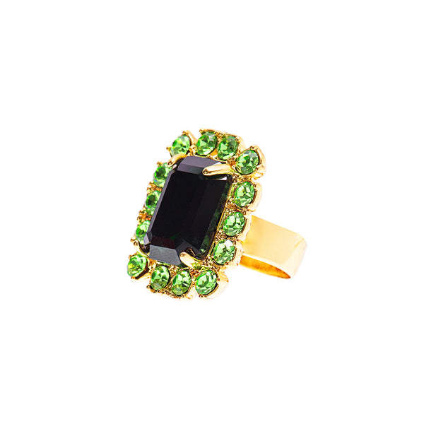 VINTAGE GLAMOUR STATEMENT RING (EMERALD)