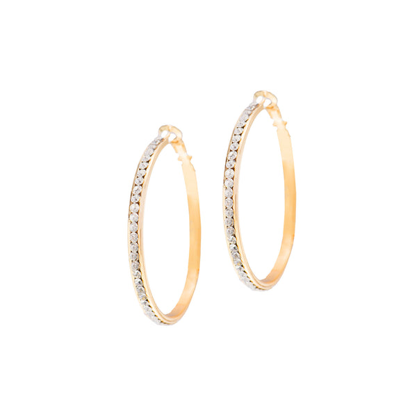 CLASSIC GLAM STATEMENT HOOPS (GOLD)