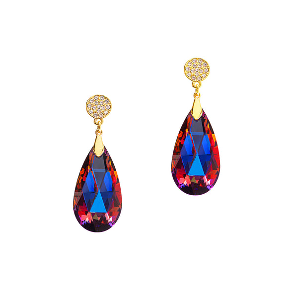 GO GLAM HOLIDAY STATEMENT EARRINGS (VOLCANO)