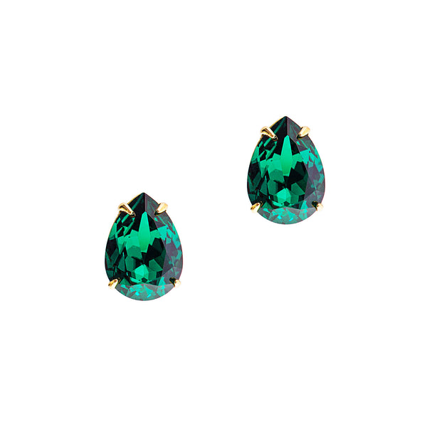 RICH IN GLAMOUR STATEMENT EARRINGS (EMERALD)