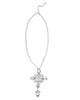 CRYSTAL ELEGANCE STATEMENT NECKLACE (SILVER/CLEAR)