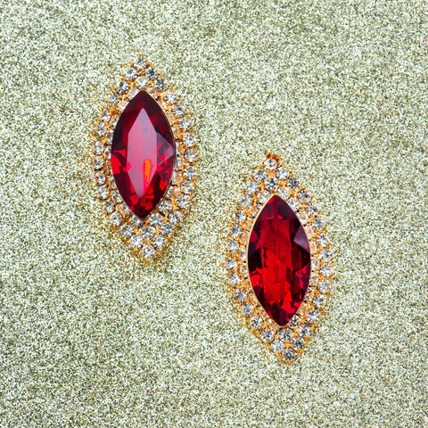 EYE OF GLAMOUR STATEMENT EARRINGS (RED)