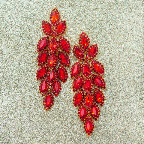 MISTLETOE CASCADE STATEMENT EARRINGS
