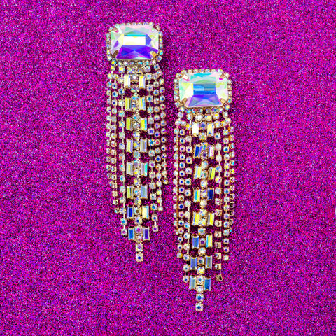 ULTIMATE SPARKLE STATEMENT EARRINGS