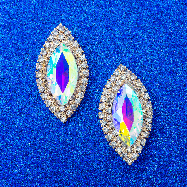 EYE OF GLAMOUR STATEMENT EARRINGS (AB)