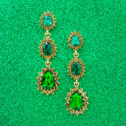 EMERALD ISLE STATEMENT EARRINGS