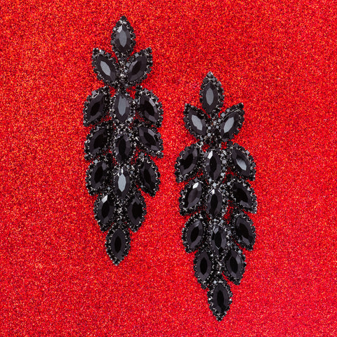 POSH POINSETTIA STATEMENT EARRINGS