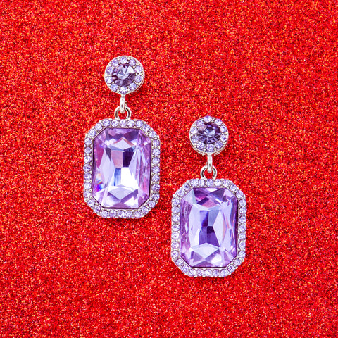 PARIS PLUM STATEMENT EARRINGS