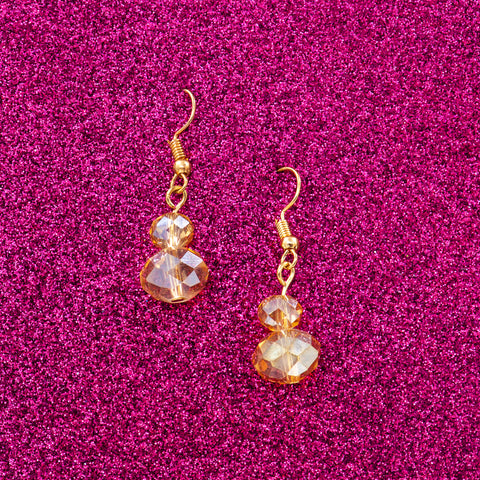 GOLDEN TWINKLE STATEMENT EARRINGS