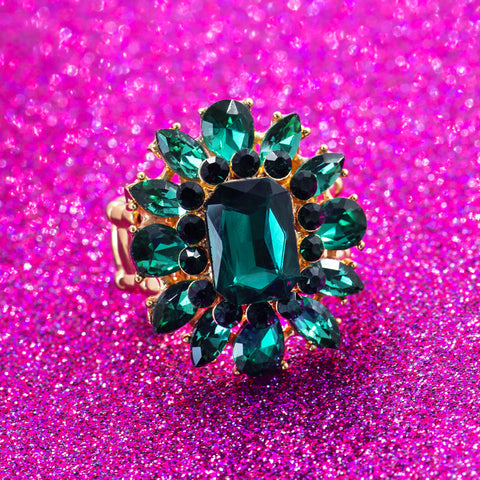 EMERALD CROWN STATEMENT RING