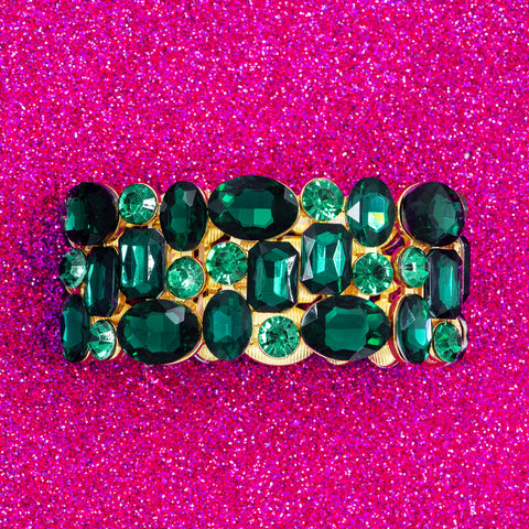 RICH IN EMERALD STATEMENT BRACELET