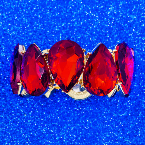 FESTIVE RED STATEMENT BRACELET