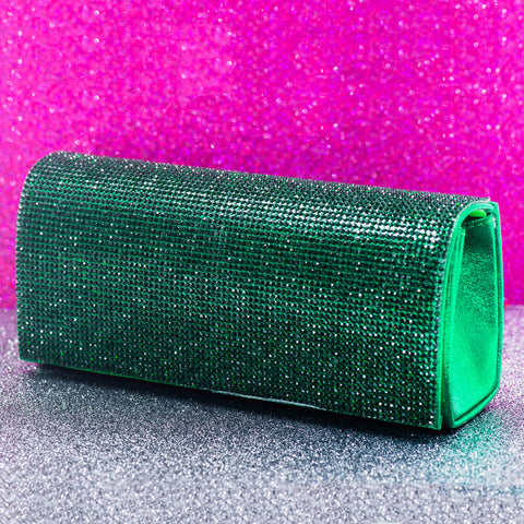 RICH IN EMERALD STATEMENT CLUTCH