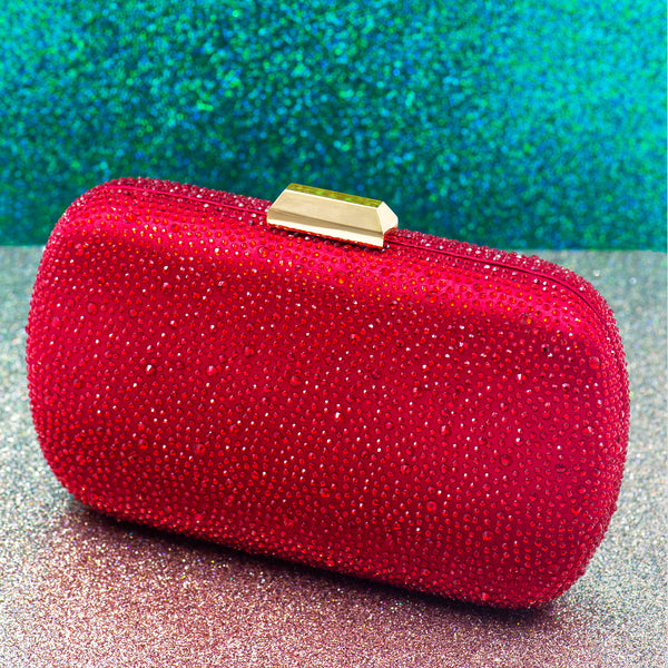 FESTIVE RED STATEMENT CLUTCH