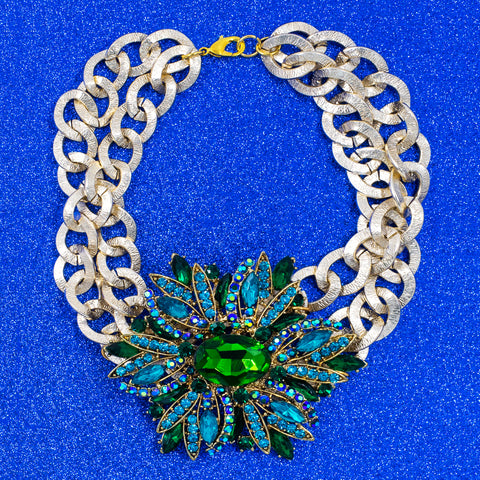NIGHT BLOOM STATEMENT NECKLACE