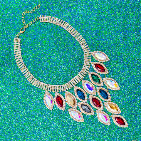 EYE OF GLAMOUR STATEMENT NECKLACE (MULTI)