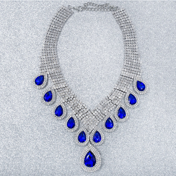 SUPREMELY ROYAL STATEMENT NECKLACE