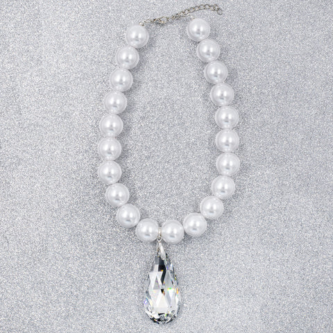 PEARL PASSION STATEMENT NECKLACE (WHITE)