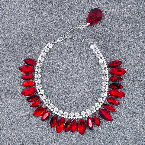 RED FOX STATEMENT NECKLACE