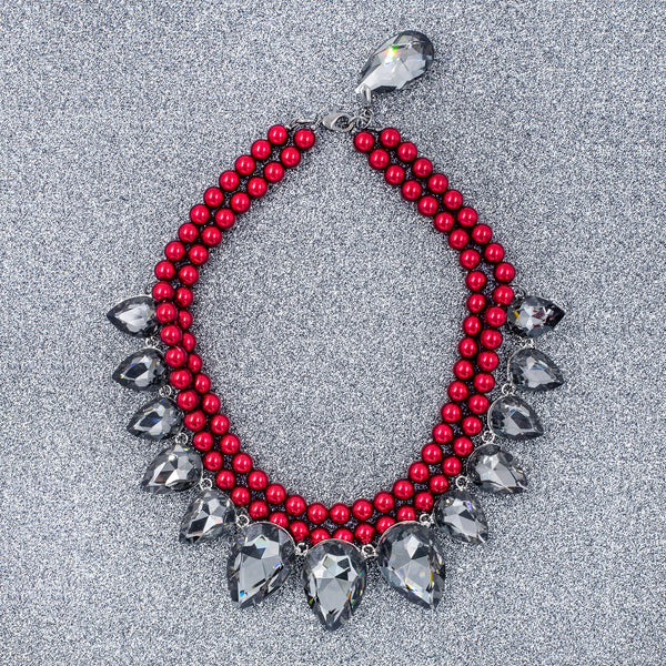 RED RAVEN STATEMENT NECKLACE