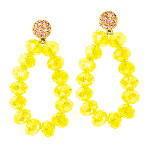SUNSHINE AND SAND STATEMENT EARRINGS