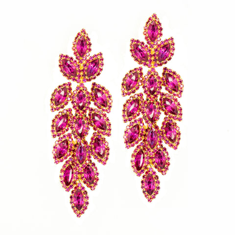 FUCHSIA FIRE STATEMENT EARRINGS