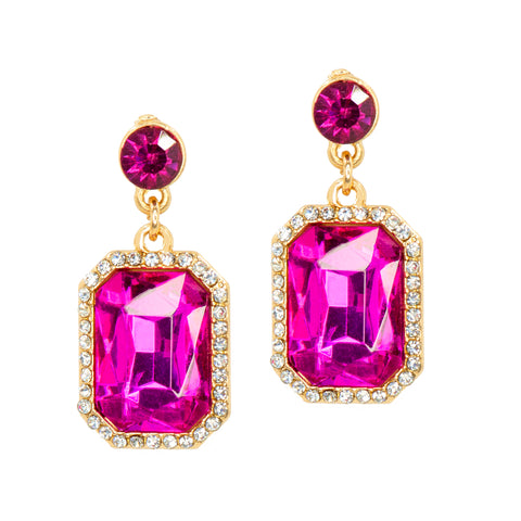 HOT IN PINK STATEMENT EARRINGS