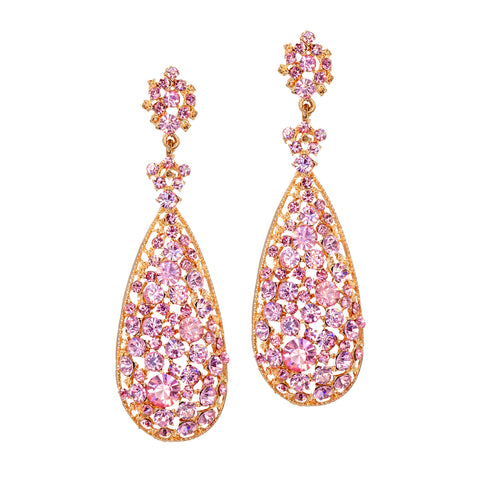 TOWER OF PINK STATEMENT EARRINGS