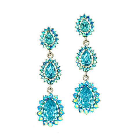GRECIAN SKY STATEMENT EARRINGS