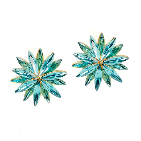 BLUE BURST STATEMENT EARRINGS