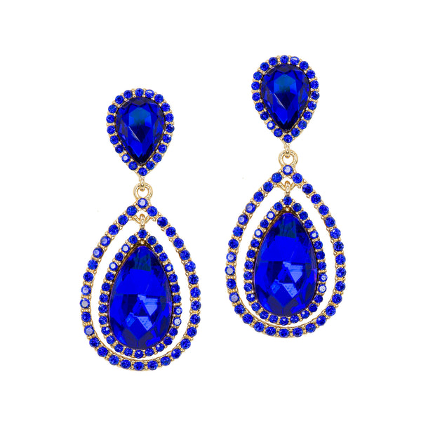 ROYAL SPARKLE STATEMENT EARRINGS