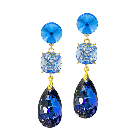 BLUE DREAM STATEMENT EARRINGS